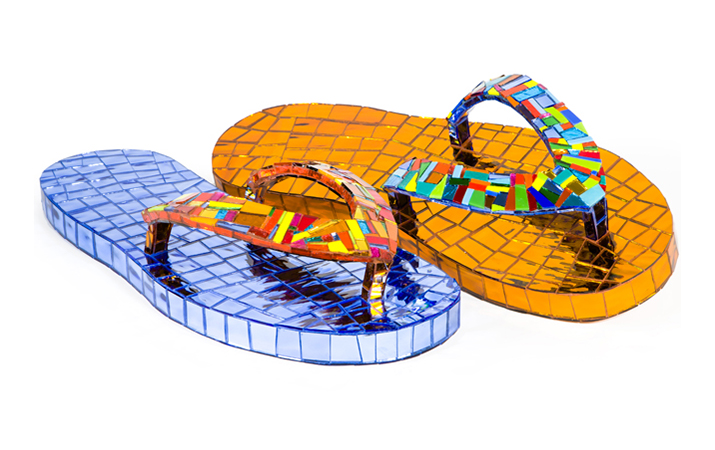 19 Jean Wells Sandals - 5 inches tall x 23 inches long x 9 inches wide